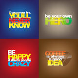 Set Of Motivational Quotes. Stock Photography