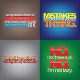 Set Of Motivational Quotes. Royalty Free Stock Photo