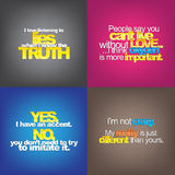 Set Of Motivational Quotes. Royalty Free Stock Photography