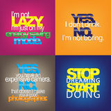 Set Of Motivational Quotes. Stock Image