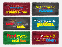 Set Of Motivational Quotes. Stock Images