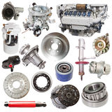 Set of motor and spare parts Stock Photography