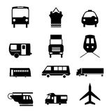 Set of motor vehicles Royalty Free Stock Photos