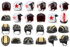 Set motorcycle helmets Royalty Free Stock Image
