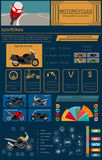 Set of motorcycles elements, transportation infographics. Vector illustration Royalty Free Stock Image