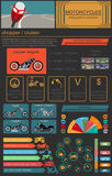 Set of motorcycles elements, transportation infographics. Vector illustration vector illustration