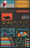 Set of motorcycles elements, transportation infographics. Vector illustration stock illustration