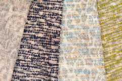 Set of mottled textiles. Set of various mottled wool and felt textiles Royalty Free Stock Photography