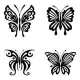Set motyle dla tatuażu Zdjęcie Stock