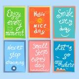 Set motywacja i inspiracyjne wycena Ręka rysujący letteri Zdjęcie Royalty Free