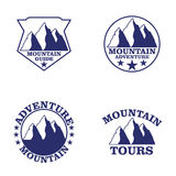 Set of mountain Stock Photos