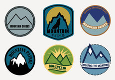 Set of Mountain labels. Royalty Free Stock Photos