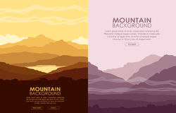 Set of Mountain landscapes Royalty Free Stock Photos