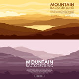 Set of Mountain landscapes Royalty Free Stock Image