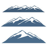 A set of mountain ranges Stock Images
