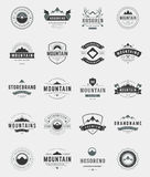Set Mountains Logos, Badges and Labels Royalty Free Stock Photography