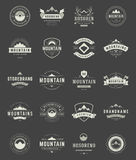 Set Mountains Logos, Badges and Labels Royalty Free Stock Photo