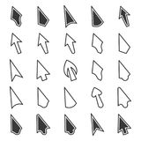Set of mouse cursor icons on a white background. Isolated vector.  Royalty Free Stock Images