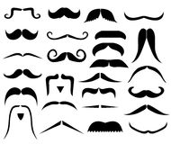 Set of moustaches Royalty Free Stock Image
