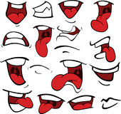 Set of mouths cartoon Royalty Free Stock Image