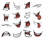 Set of mouths cartoon. Set of a various mouth for animation Stock Photo