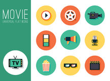 Set of movie design elements and cinema icons Stock Photo