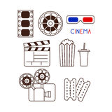 Set of Movie Elements Stock Photos