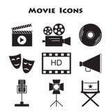Set of Movie Icons. Cinema symbols Royalty Free Stock Images