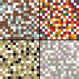 Set mozaik abstracts  illustration Royalty Free Stock Photos