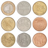 Set of Mozambican coins Royalty Free Stock Photography