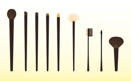 Set muśnięcia dla makijażu Obrazy Stock