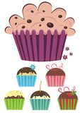 Set of muffins. Set of six muffin icons Stock Image