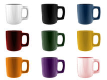 Set of mugs Stock Photography