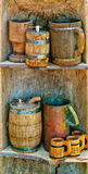 Set of mugs and kegs Stock Images