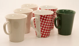 Set of mugs Royalty Free Stock Images