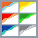 Set of multi-colored backgrounds for your design. Set of multi-colored backgrounds with elements of waves and soft shadows Royalty Free Stock Photo