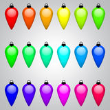 Set of multi-colored Christmas toys vector vector illustration