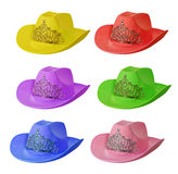Set of multi-colored cowboy hat Stock Photo