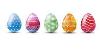 Set of multi-colored Easter eggs. Vector illustration. stock illustration
