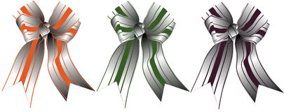 A set of multi-colored festive ribbons. Vector illustration Royalty Free Stock Photos