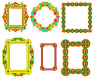 Set of multi-colored frame with a flower Royalty Free Stock Photos