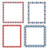 Set of multi-colored frames. From decorative flowers Royalty Free Illustration