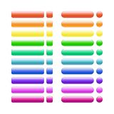 Set of multi colored glass buttons glossy icons for web Stock Photo