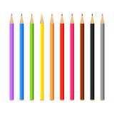 Set of multi-colored pencils Stock Photography