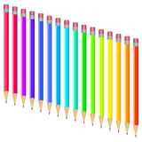 Set of multi-colored pens Stock Photo