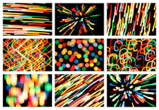 Set of multi-colored spots Stock Photos