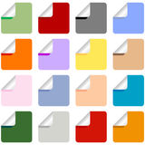 Set of Multi-Colored Stickers Royalty Free Stock Photos