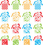 Set of multi-coloured gift packings. Beautiful  set of multi-coloured gift packings Royalty Free Stock Images