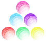 Set of multi-coloured spheres Stock Photo