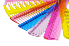 Set multi-coloured transparent combs Stock Image